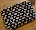 Large Hippo Print Clutch