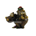 Bejeweled Piggyback Hippo Trinket Box