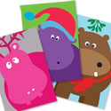 Hippo Holidays Note Card Pack