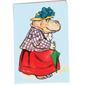 Mistress Hippopotamus Note Card