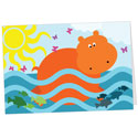 Swimming Hippo Note Card