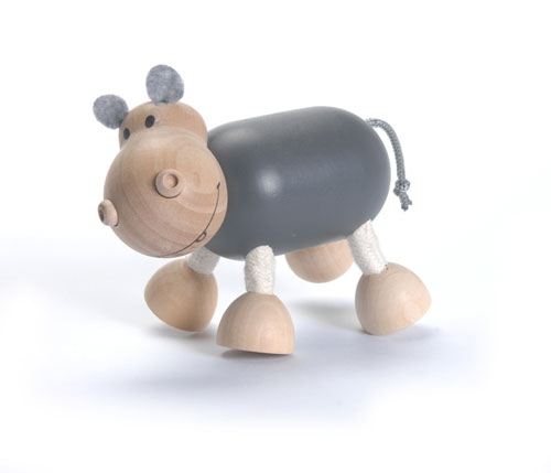 Wooden Hippo Toy by Anamalz - Click Image to Close