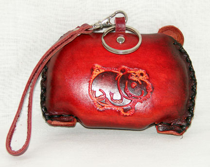 Hippo Leather Coin Purse - Click Image to Close