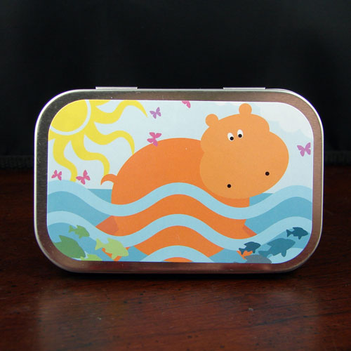 Swimming Hippo Mint Tin - Click Image to Close