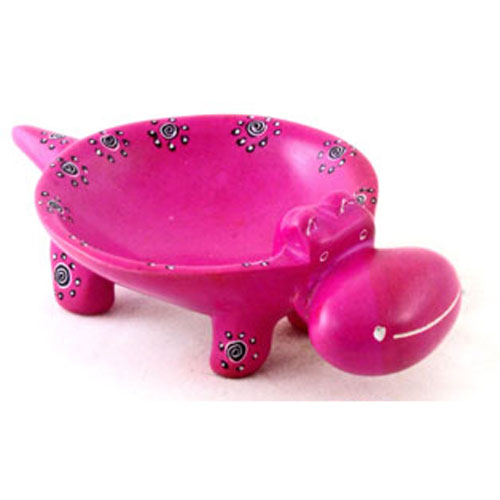 African Hippo Soapstone Ring Dish - Click Image to Close