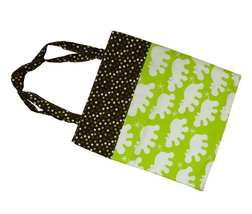 Hippo Print Tote Bag - Click Image to Close