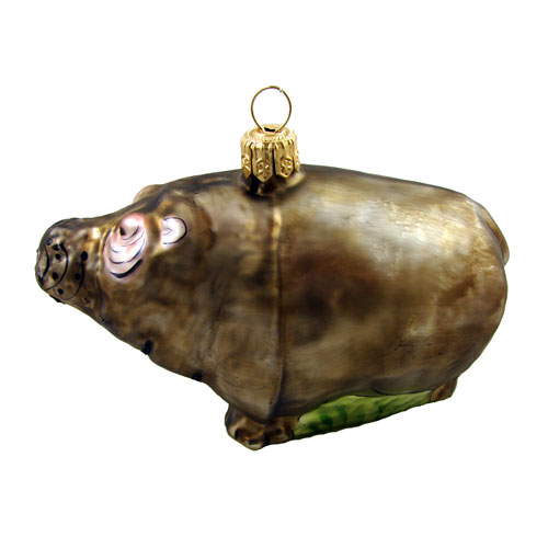 African Hippo Ornament - Click Image to Close