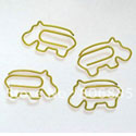 Vinyl Wrapped Wire Hippo Paper Clip