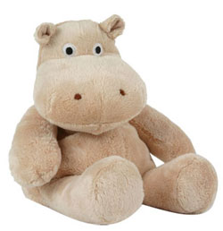 Microwaveable Wheat-Filled Plush Hippo