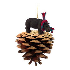 Pinecone Hippo Ornament
