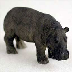 Tiny Hippo Figurine