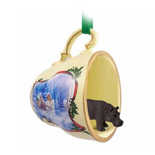Sleigh Ride Tea Cup Hippo Ornament
