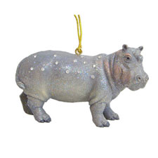 December Diamonds Hippo Ornament