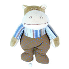 Musical Hippo Pull Toy