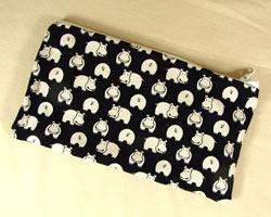 Hippo Print Pencil Pouch