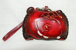 Hippo Leather Coin Purse