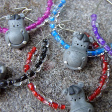 Hippo Wine Glass Charms