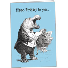 Hippo Birthday To You Singing Hippo Greeting Card