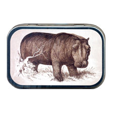 African Hippo Mint Tin