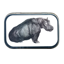 Sitting Hippo Mint Tin