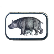 Momma & Baby Hippopotamus Mint Tin
