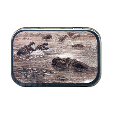 Hippopotami At Home Mint Tin