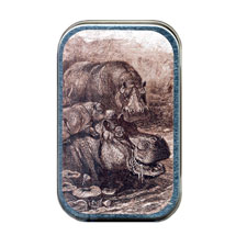 Hippotami Family Mint Tin
