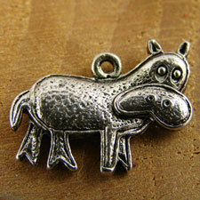 Quizzical Hippo Charm
