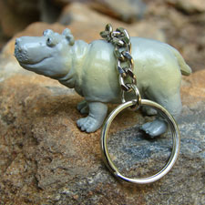 Happy Hippo Key Chain