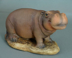 Baby Resin Hippo Figurine