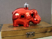 Shiny Hippo Ornament