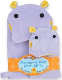Hippo Mommy & Baby Wash Mitt