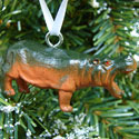 Roaring Hippopotamus Mini Ornament