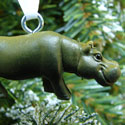 Grazing Hippo Mini Ornament