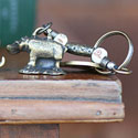 Brass South African Hippo Key Ring