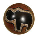 Hippo Soapstone Decorative Ball or Paperweight