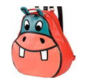 Red & Blue Hippo Backpack