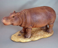 Mother Resin Hippo Figurine